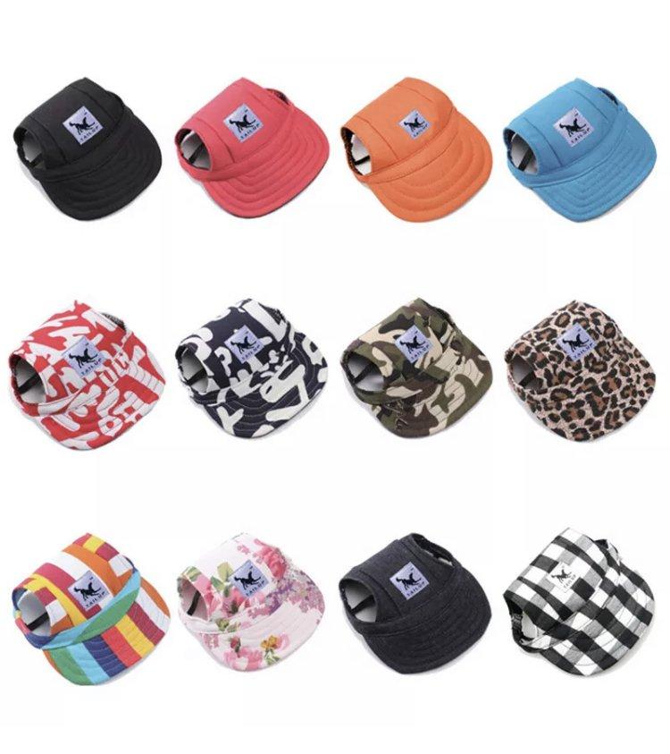 Pet Dog Hat Baseball Cap Windproof Travel Sports Sun Hats Puppy Dog Accessories