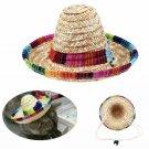 Multicolor Pet Straw Hat Sombrero Mexican Puppy Dog Cat Cinco De Mayo Holiday Accessories