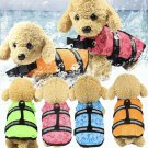 Pet Dog Swimming Life Jacket XXS-XL Top Stripe Reflective Preserver Pet Supplies