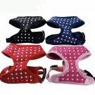 Star Pattern Pet Harness Vest XS-XL Soft Mesh Adjustable Chest Strap Collar Puppy Dog Walk