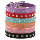 Bling Rhinestone Suede Leather Pet Collars XXS-S Crystal Adjustable Puppy Dog Kitten Cat Supplies