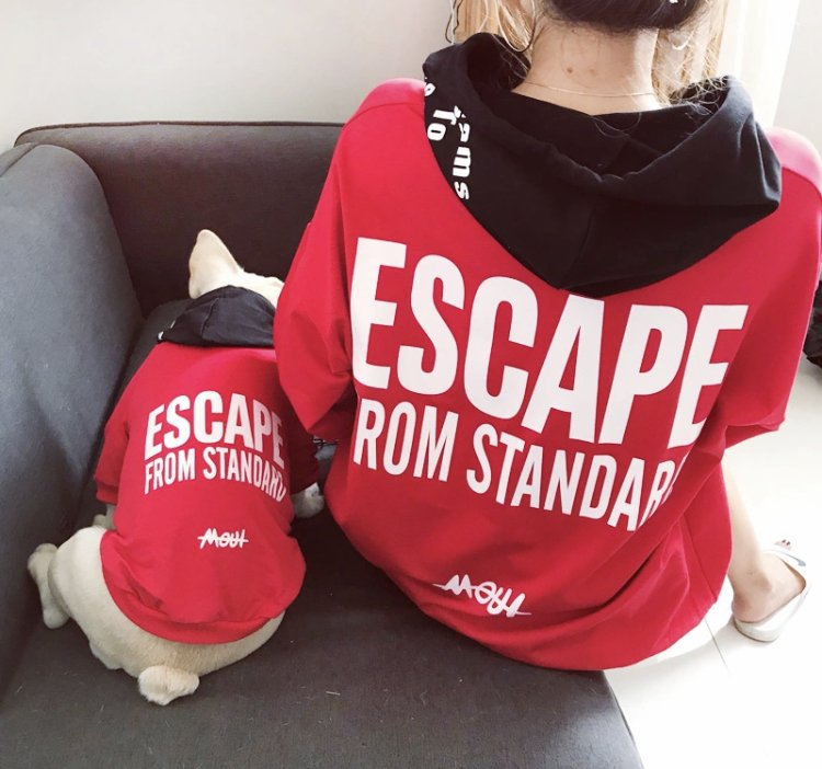 Escape from Standard Pet Fam Matching Puppy Dog Clothes Parent-child Costume Sweatshirt Clothes