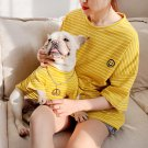 Smiley Face Shirt Matching Pet People Tops Clothes S-4XL Puppy Dog Kitten Cat Striped Cool Clothing