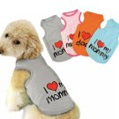 I Love My Mommy Daddy Top S-2XL Pet Puppy Dog Cat Lovable Tank Top Vest Pets Clothes