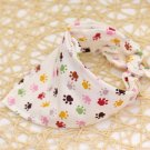 Paw Print Pet Bandana Collar Puppy Dog Kitten Cat Triangle Neck Scarf Adjustable Neckerchief