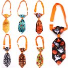 Graphic Halloween Pet Adjustable Necktie Puppy Dog Cat Holiday Prop Neck Tie Collar Accessories