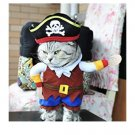 Pirates of the Caribbean Pet Costume S-L Puppy Dog Kitten Cat Halloween Party Funny Costume