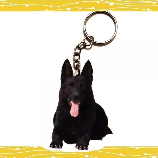 Belgian Shepherd Dog Acrylic Keychain Car Keyring Purse Bag Backpack Women Men Jewelry