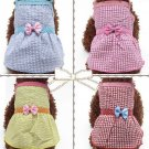 Lattice Princess Pet Bow Dress S-XL Puppy Dog Sleeveless Summer Spring Fashion Pet Clothes Apparel