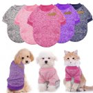 Classic Pet Pullover Sweatshirt XS-2XL Puppy Dog Winter Jacket Clothes Cat Knitted Coat Apparel