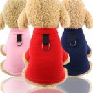 Warm D Ring Pet Sweater XS-2XL Puppy Dog Cat Vest Top Autumn Winter Clothes