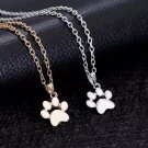 Paw Print Pendant Necklace Women Pet Lover Animal Foot Cat Claw Gold Chain Fashion Jewelry