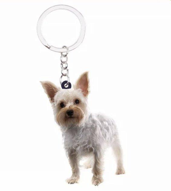 Yorkshire Yorkie Acrylic Keychain Pendant Collectible Car Bag Keyring Animal Pet Puppy Dog Accessory