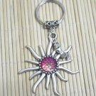 Mermaid Fish Scales Sun Rose Pendant Keychain  Holographic Shiny Charm Zipper Bag Jewelry