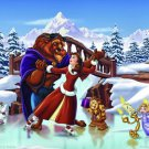 Beauty and the Beast Disney HD Canvas Oil Painting Canvas Animation Art Decoration Wall Decor