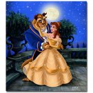 "Beauty and the Beast Disney HD Canvas Painted Oil Painting Wall decor 15""x13"""