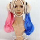 Suicide Squad Harley Quinn Wig Halloween Anime Cosplay Adult Wig High Quality Costume Wigs