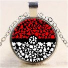 Unisex Anime Pokemon Pokeball All Characters Cabochon Glass Pendant Men Women Silver Chain Necklace