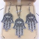 Set Hamsa Earrings Necklace Pendant Charm Boho Festival Fashion Trend Alloy Accessories Jewelry
