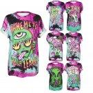 3D Graphic Shirt S-3XL Unisex Alien Magical Print Short Sleeve Top Festival Rave Style Apparel