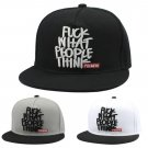 Fuck What People Think Snapback Brim Adjustable Baseball Cap Hip-Hop Hat Unisex Head Hair Accessory
