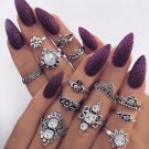 13 pc Stack Rings Set Boho Festival Fashion Above Knuckle Ring Midi Finger Gypsy Hippie Jewelry