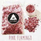 Pink Flamingo Chunky Sequins Glitter Face Nail Body Art Decoration Stickers Rave Festival Eye Beauty