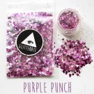 Purple Punch Chunky Sequins Glitter Face Nail Body Art Decoration Stickers Rave Festival Eye Beauty