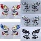 Adhesive Face Gems Rhinestone Jewels Rave Festival Party Club Body Glitter Sticker Tattoo Beauty