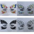 Temporary Tattoo Face Gems Jewels Festival Rave Party Stylish Body Stickers Fashion Art Rhinestones