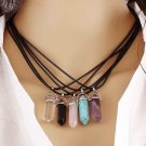 Quartz Crystal Pendant Necklace Natural Healing Stone Gemstone Hexagon Chakra Meditation Jewelry