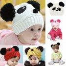 Lovely Panda Knitted Crochet Beanie Hat Baby Kids Girls Toddler Winter Warm Accessories