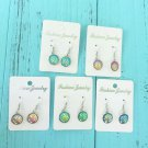 Holographic Mermaid Scale Dangle Earrings Colorful Ear Accessories Rave Festival Fashion Jewelry