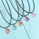 Holographic Colorful Mermaid Scale Leather Necklace Accessories Rave Festival Fashion Jewelry