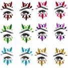 Adhesive Face Gems Rhinestone Jewels Rave Festival Party Club Body Glitter Sticker Tattoo Beauty