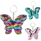 Butterfly Sequin Pendant Keychain Keyring Outdoor Animal Glitter Fashion Rave Festival Accessories