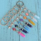 Shell Starfish Scales Crystal Keychain Holographic Pendant Zipper Bag Charm Party Rave Accessory