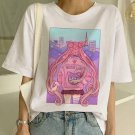 Sailor Moon Graphic Print T-Shirt XS-2XL Summer New Fashion T Shirt Women Harajuku Short Sleeve Fun