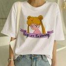 Sailor Moon Graphic Print T-Shirt XS-2XL Summer New Fashion T Shirt Women Harajuku Fun Festival Top