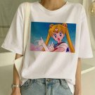 Sailor Moon Graphic Print T-Shirt XS-2XL Summer Anime Fashion T Shirt Women Harajuku Festival Top