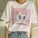 Sailor Moon Graphic Print T-Shirt XS-2XL Summer Anime Fashion T Shirt Women Harajuku Festival Top