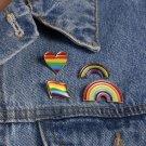 LBGT Rainbow Gay Pride Badges Brooches Lapel Pin Enamel Backpack Bag Clothing Accessories