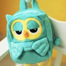 Owl Plush Small Backpack Kids Boys Girls Toddler Kindergarten School Mini Bag Purse Carrier