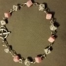 Pink & White Dice Bracelet