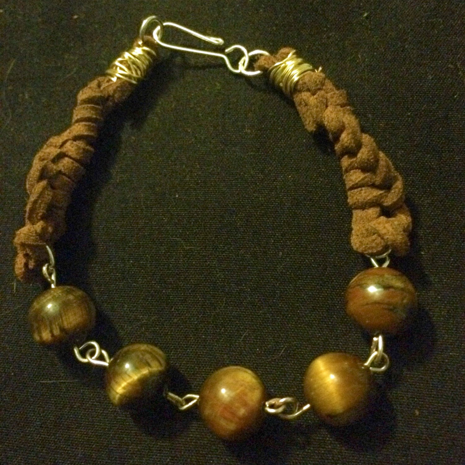 Tigers Eye With Faux Suede