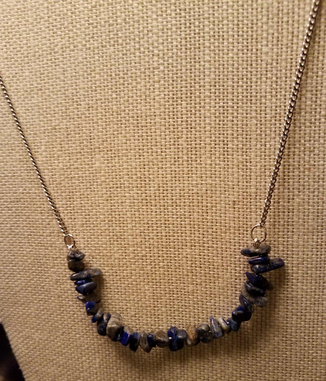 Lapis Lazuli Chip Necklace