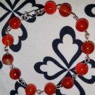 Carnelian Link Bracelet