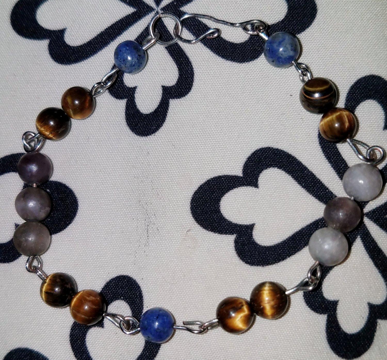 Multistone Link Bracelet