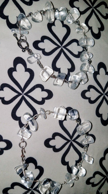 Quartz Chip Link Bracelets