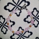 Rose Quartz and Venus Jasper Beaded Bracelet